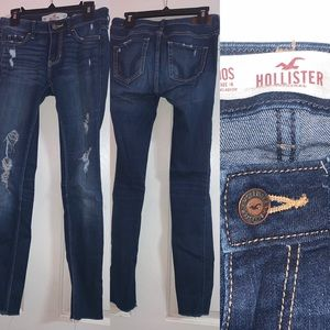 Hollister women's jeans 00s low rise super skinny